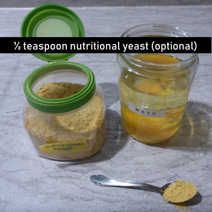 1/2 tsp nutritional yeast - optional