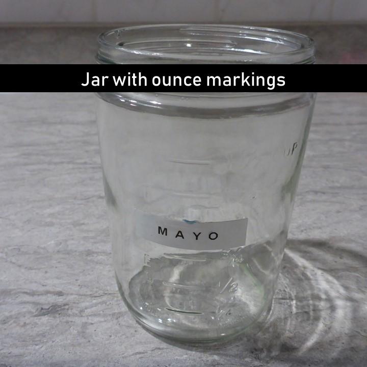 jar with ounce marking