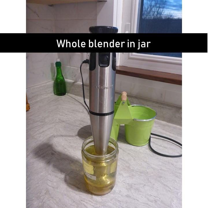 whole blender in jar