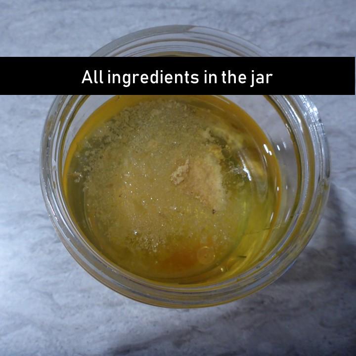 all ingredients in jar
