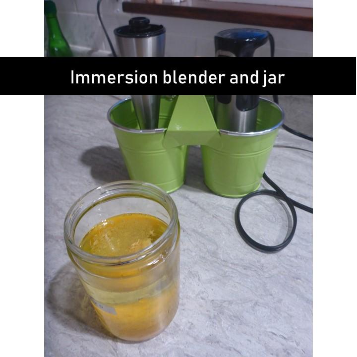 immersion blender and jar